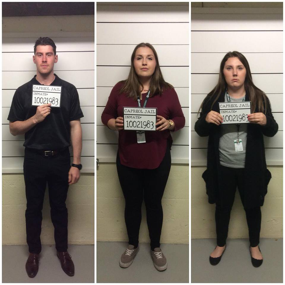 Sudbury Tourism Summer Students locked up for having too much fun at the Northern Ontario Railroad Museum & Heritage Centre!
