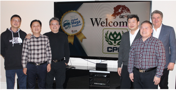 Jim Long, CEO- President, Genesus Qi'an LiHead of swine business line in Mr Zhou'area, CP Group Chunyu XuHead of swine business line in Mr Huo'area, CP Group He TianHead of Handing company, CP Group Xiaoyong LiHead of swine business line in Mr Bai'area, CP Group Hui YaoHead of CP construction