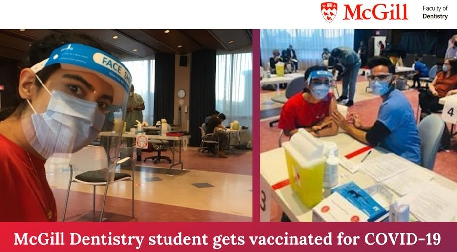 Dentistry student gets vaccinated
