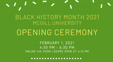 Black History Month at McGill: Opening Ceremony